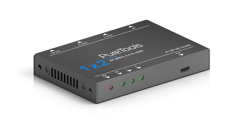 PureTools UHD HDMI signaalijagaja 1x2, 4K (60Hz 444)