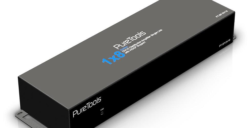 PureTools 2K FHD DVI (single link) signaalijagaja 1x8