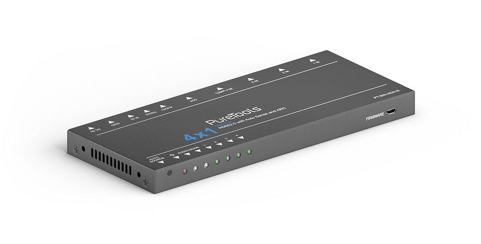 PureTools 4x1 | 4K 18Gbps HDMI lüliti | TMDS auto äratundmine ja ARC