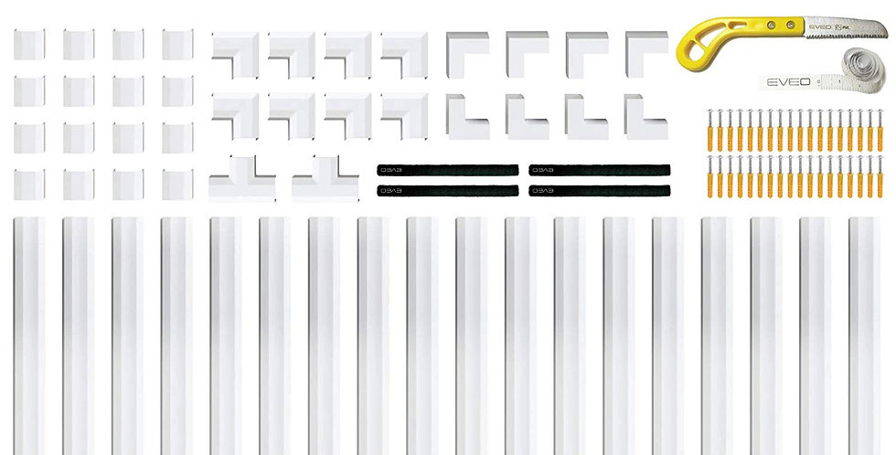 Plastik kaablikate | 7.6m | täiskomplekt | värvitav | kleebitav