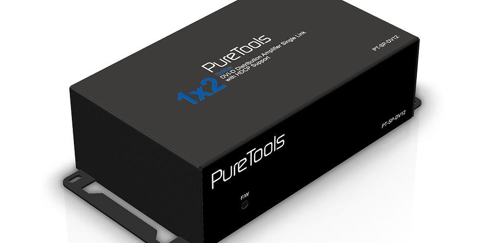 PureTools 2K FHD DVI signaalijagaja 1x2