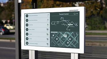 E-paber ekraanid linnades ja kaartide edastamiseks - e-pabe ekraanid reklaamtahviteks