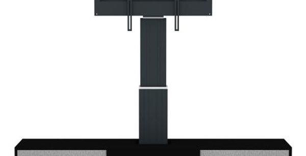 Ekraanimööbe: Motoriseeritud ekraanijalg + 2 uksega lukustatav kapp