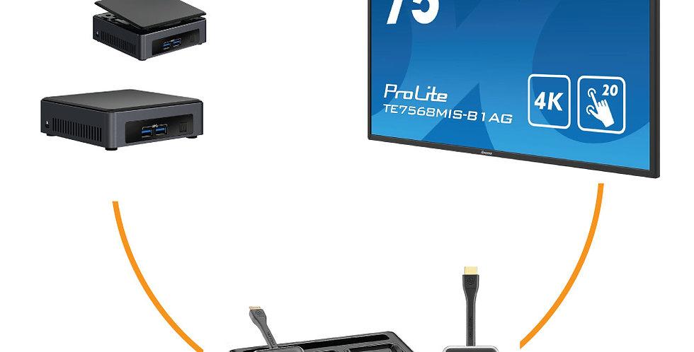 "Iiyama 75"" 4K UHD + Intel NUC 7 + VisionShare A40"