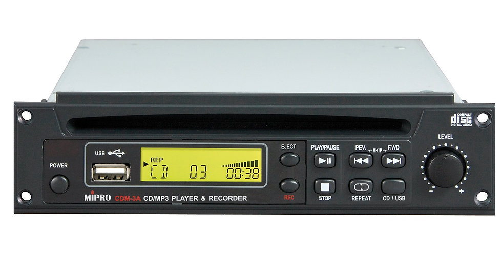 Mipro CDM-3A CD ja USB mängija ja salvestaja