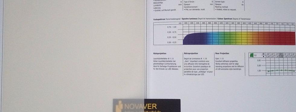 Transmission® - kreemjas tagant projekteeritav PVC ekraan