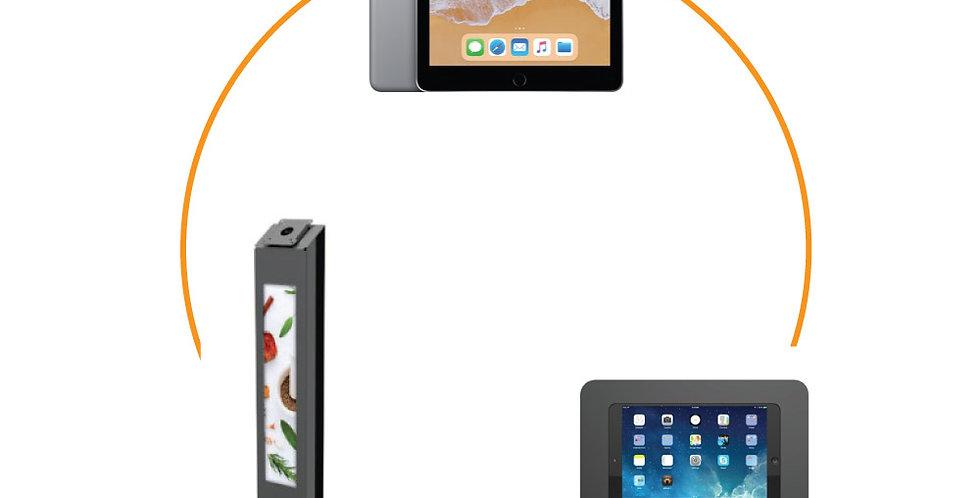 """iPad 9.7"""" + Edbak tahvelarvuti hoidiku jalg + Rokku iPad kest Compulocks'lt"""