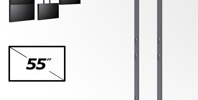Videoseina kinnitus jalad - VESA 200 ja 400  - 3 ekraan - maastik