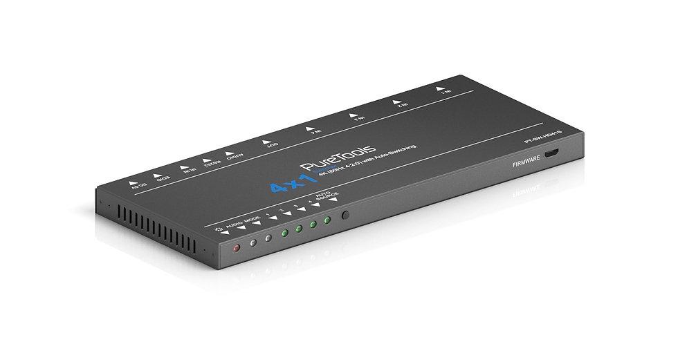 PureTools - HDMI lüliti 4x1 | 4K (60Hz 4:2:0) | automaatne lülitamine