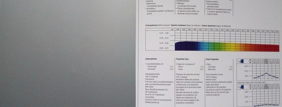 Silverblack® - hõbedane/must eest projekteeritav PVC ekraanimaterj