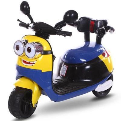 小兵造型兒童電動機車