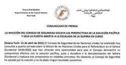 Comunicado ONU