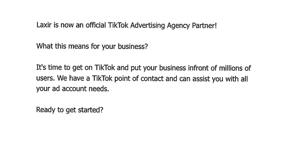 TikTok Advertising Agency Partner