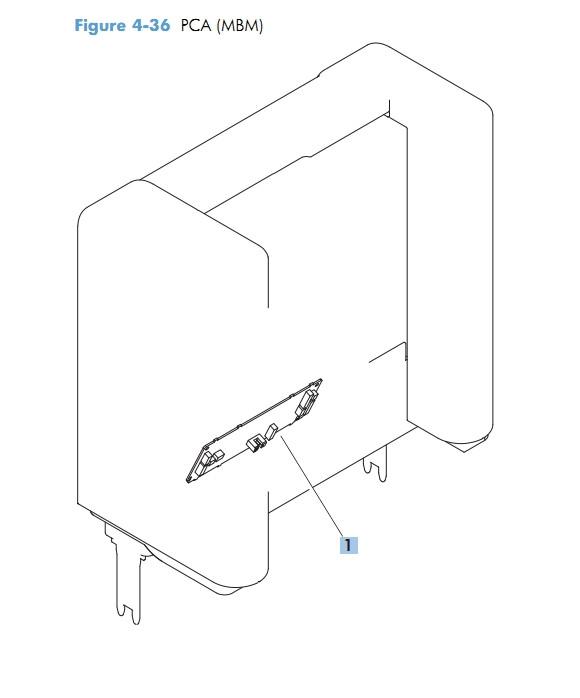 PCA MBM multi bin mailbox M601 M602 M603 HP Laser Printer Diagrams