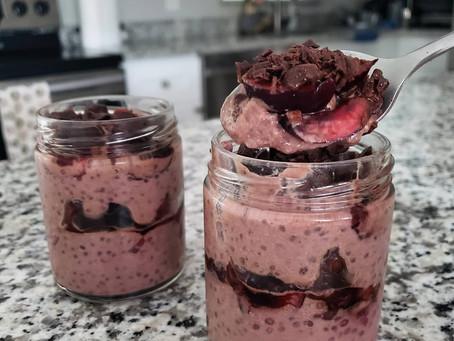 Hydrating Coconut + Cherry Gar-Chia Pudding
