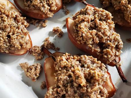 Individual Baked Pear Crisps