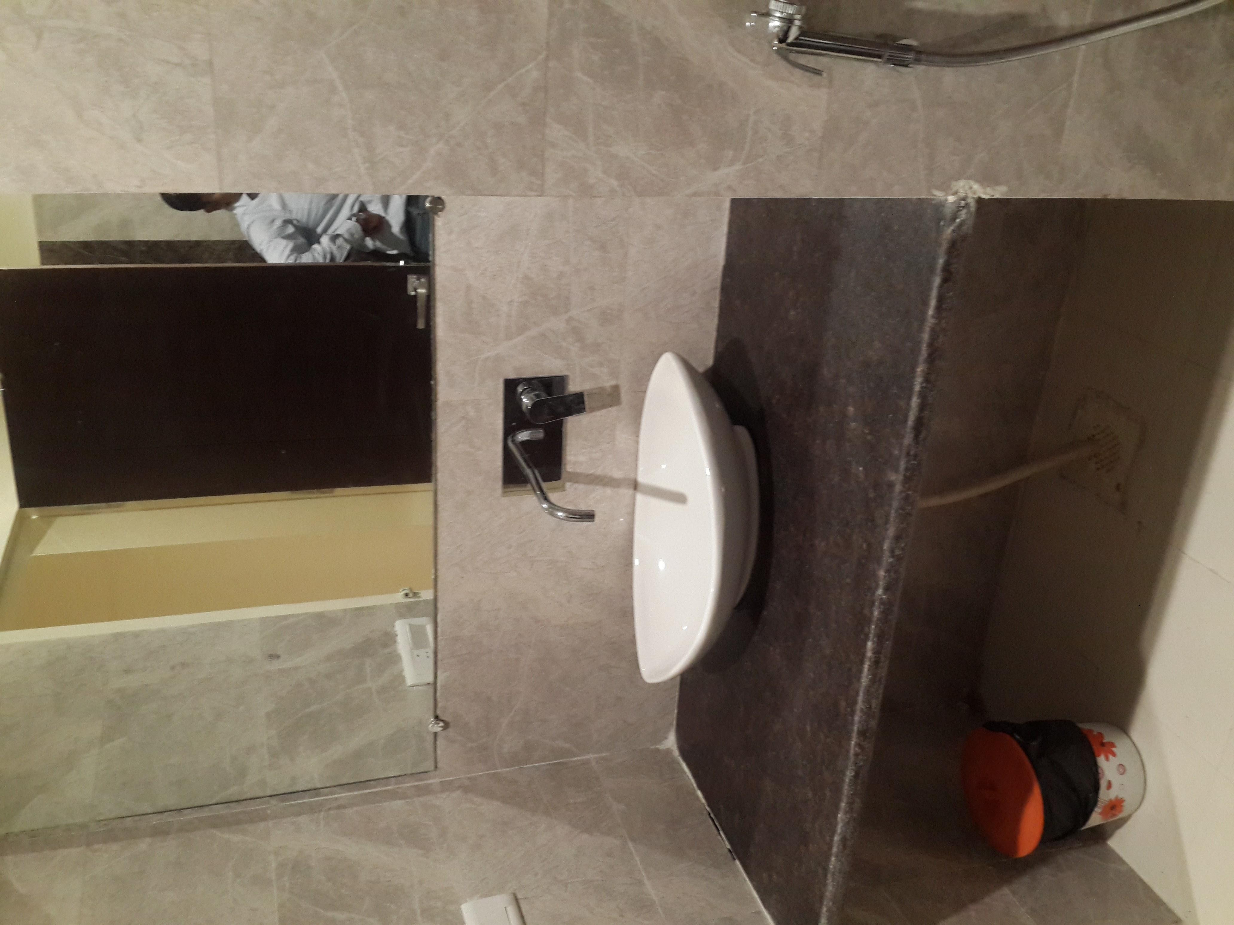 tan brown granite in bathroom