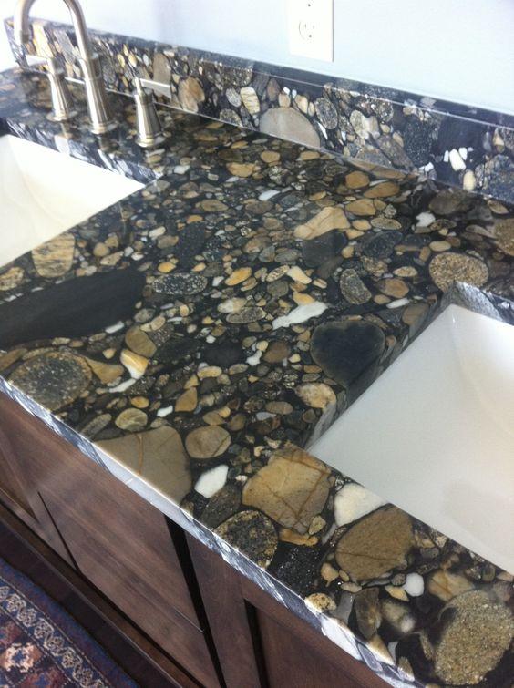 pebble black brijgranite countertop