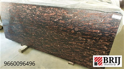 Brazil Brown Granite Slabs Lapao Polishe