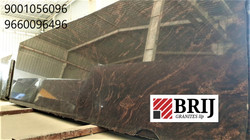 Multi Brown Granite Slabs Brij Granites.