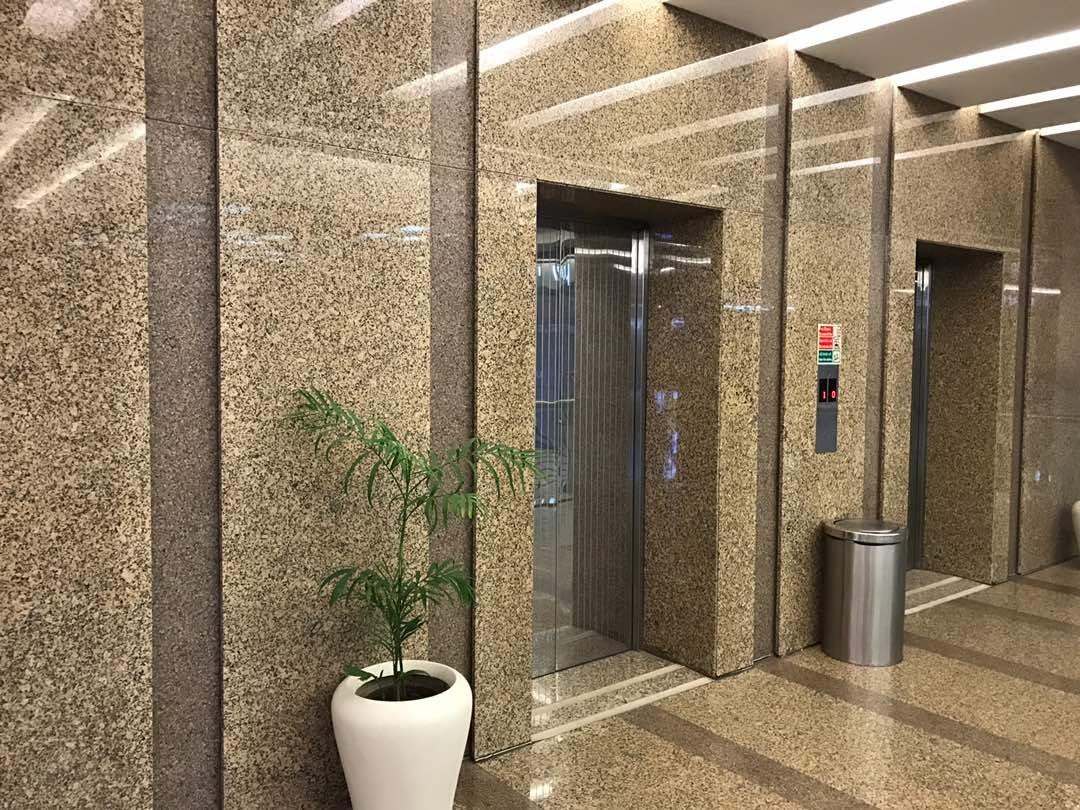 yellow indian granite lobby