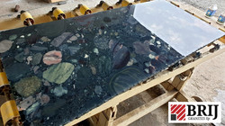 Pebble Black Ganite Slabs Brij Granite