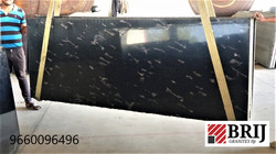 Fish Black Granite Slabs Indian Granite