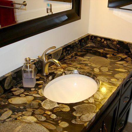pebble black granite countertop indi