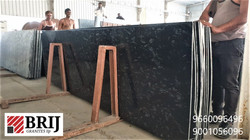 Magestic Black Granite Slabs Brij Granit