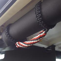 Custom Paracord Jeep Grab Handles