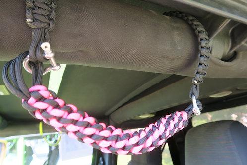Pink and Black TJ/YJ Grab Handles