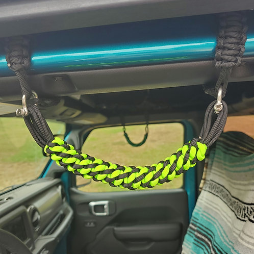 Lime and Black JL Grab Handles