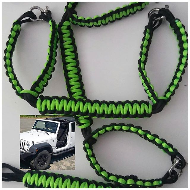 Custom Paracord Jeep Grab Handles