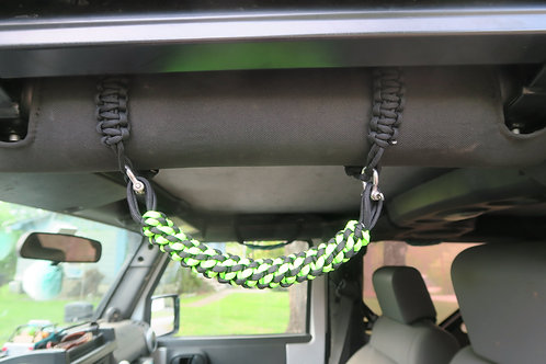 Lime and Black JK Grab Handles