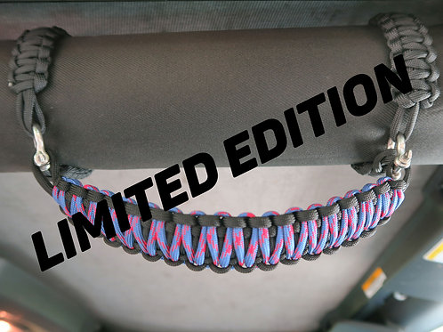 Blue and Red limited edition Jeep JK Grab Handles