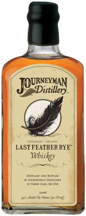 Bouteille de whisky Journeyman Last Feather Rye Whiskey