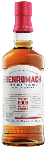 bouteille de Benromach Vintage 2009 Cask Strength Batch 04