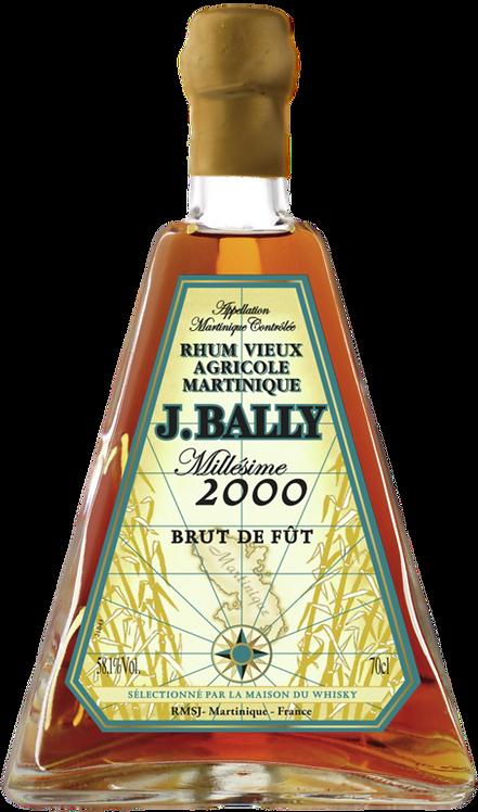 Bouteille de rhum J. Bally 17 ans 2000 Brut de Fut The Chronicles