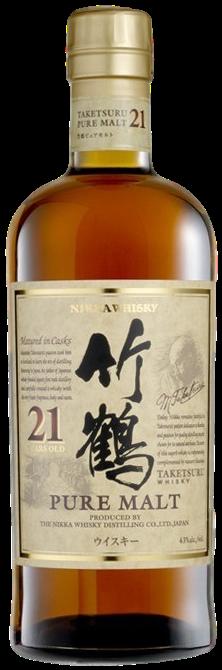Bouteille de whisky Nikka 21 ans Takesturu Pure Malt