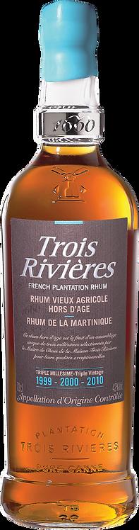 Bouteille de rhum Trois Rivières triple millésime