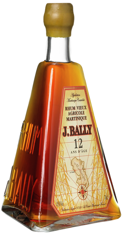 Bouteille de rhum J. Bally 12 Ans bouteille pyramide