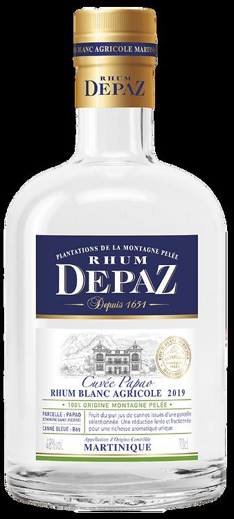 Bouteille de rhum blanc agricole DEPAZ Cuvée Papao