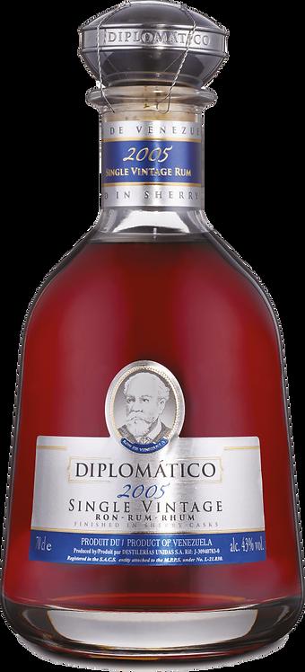 Bouteille de rhum Diplomatico Single Vintage 2005