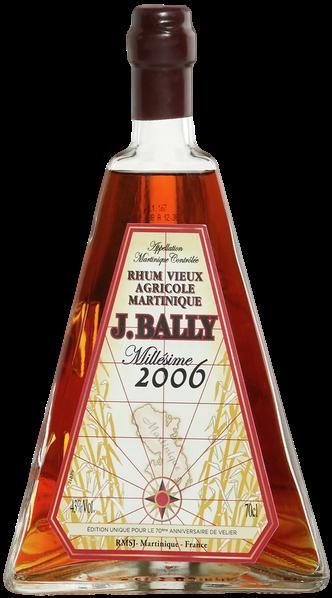 Bouteille de rhum J. Bally millésime 2006 70 ans velier