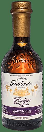 Bouteille de rhum La Favorite Cuvée privilège pour Lulu #2