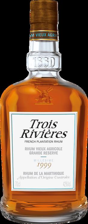 Bouteille de rhum Trois Rivières millésime 1999