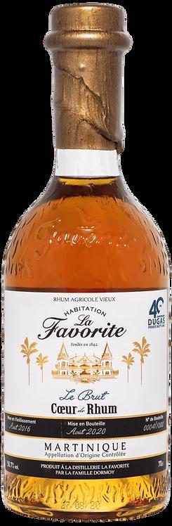 Bouteille de La Favorite Le Brut Cœur de Rhum 40 Ans Dugas Private Bottling