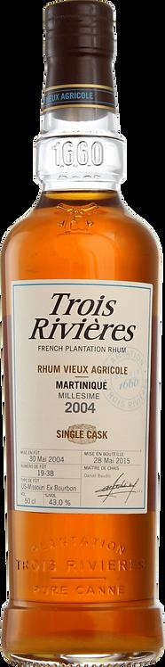 Bouteille de rhum Trois Rivières 2004 Single Cask Fut L19-38
