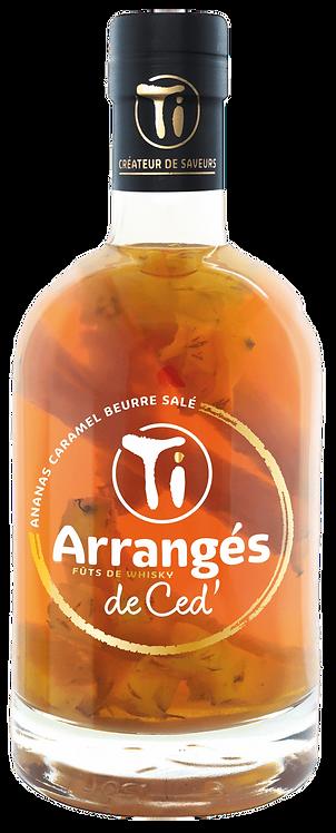 Bouteille de rhum Les Rhums de Ced Ananas Caramel Beurre Salé Fût de Whisky