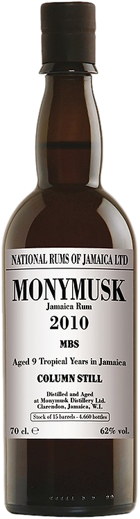 Bouteille de rum Monymusk 2010 MBS